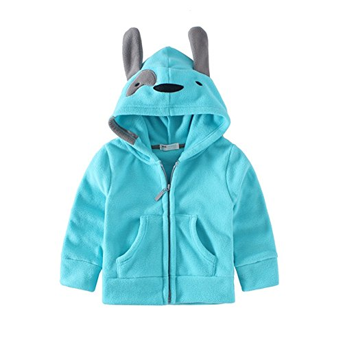 Mud Kingdom Cute Little Boys Fleece Animal Costume Hoodies 4T Blue Dog
