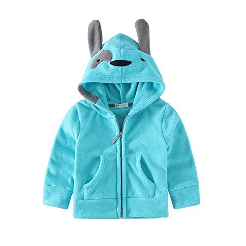 Mud Kingdom Adorable Little Boys Fleece Animal Costume Hoodies 3T Blue (Adorable Sweatshirts)