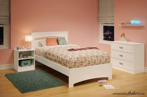 South Shore Libra Twin Bed Set, 39-Inch, Pure White