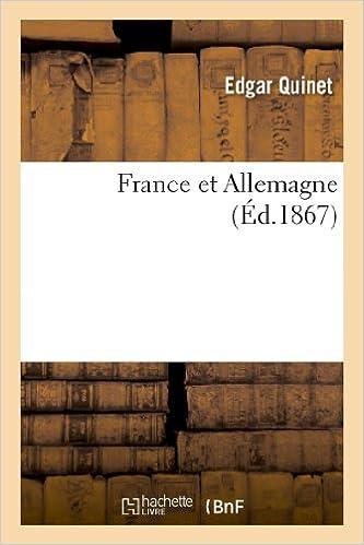 Lire en ligne France et Allemagne pdf, epub ebook