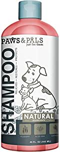 Natural Oatmeal Dog-Shampoo and Conditioner - 20oz Medicated Clinical Vet Formula Wash for All Pets Puppy & Cats - Made with Aloe Vera for Relieving Dry Itchy Skin