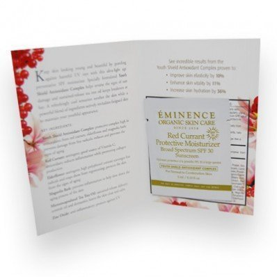 Eminence Red Currant Protective Moisturizer Set of 6 Samples 3 Ml Each (Protective Shield Moisturizer)
