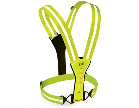 Amphipod Running Gear - Amphipod Xinglet Flash LED Vest, Neon/Bright Green, OS
