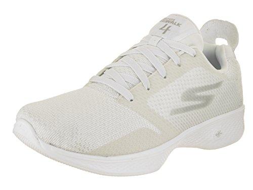 Skechers Performance Women's Go 4-14914 Walking Shoe,White,9 M US (Skechers Rubber Shoes)