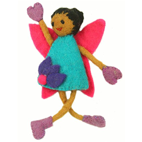 - Global Groove Handmade Tooth Fairy Pillow with Pocket from Nepal Brown Skin Fairy