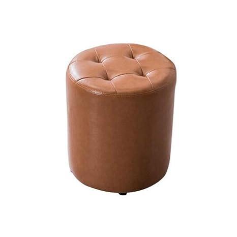 Enjoyable Amazon Com Qtqhome Soft Ottoman Round Faux Leather Sofa Dailytribune Chair Design For Home Dailytribuneorg