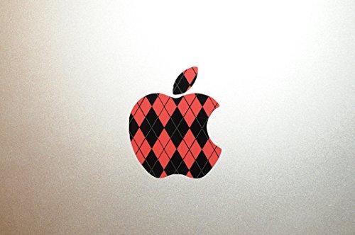 Argyle Red - Apple Sticker for Macbooks - glossy vinyl decal