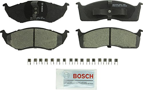 Bosch BC591 QuietCast Premium Ceramic Disc Brake Pad Set For Select Chrysler 300M, Concorde, Town & Country, LHS, Prowler; Dodge Caravan, Intrepid; Eagle Vision; Plymouth Voyager + More; Front