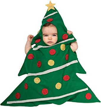 amazoncom rubies costume babys christmas tree baby bunting multicolor newborn clothing