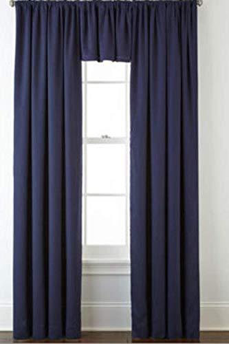 "Cotton Classics Rod Pocket Curtain Panel 50""X84"" Bold Navy"