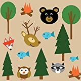 """Baby Sensory Crinkle & Teething Square Lovey Toy with Closed Ribbon Tags for Increased Stimulation: 8""""X8""""  (Forest Animals)"""