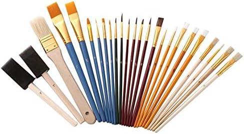 画筆セット 25Pcs多機能ナイロン実用筆セットのアーティストがセットアート用ブラシ絵画ペイント 幅広い用途と良い感触 (色 : Multi-colored, Size : 25pcs)