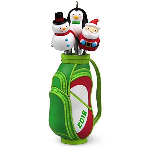 Hallmark Keepsake Christmas Ornament 2018 Year Dated, Golf Ho-Ho-Hole in -