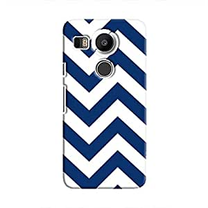 Cover It Up - Jagged Blue&White Nexus 5XHard Case