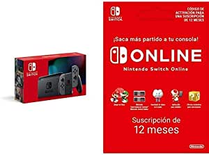 Nintendo Switch - Consola Estándar - Gris + Nintendo Switch Online - 12 Meses (Código de descarga)