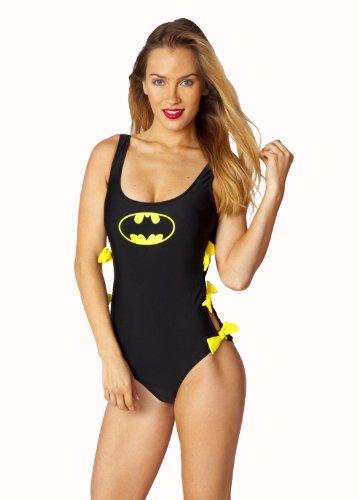 Batgirl Batman Bow Monokini One Piece Bathing Suit DC Comics S
