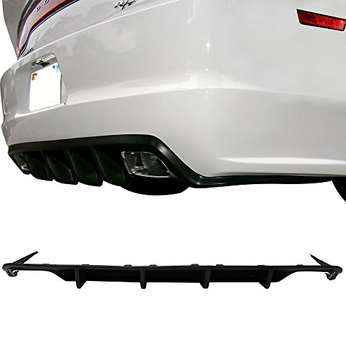 Rear Bumper Diffuser Fits 2011-2014 Dodge Charger | MDP Style PU Splitter Spoiler Valance Chin Diffuser Body kit by IKON MOTORSPORTS | 2012 2013