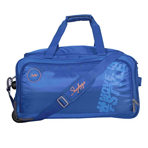 Skybags Casper Polyester 57 cm Navy Blue Duffle on Wheel