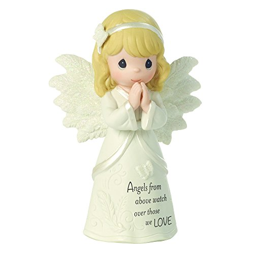 Love Porcelain Figurine - Precious Moments, Angels From Above Watch Over Those We Love, Bisque Porcelain Figurine, 161061