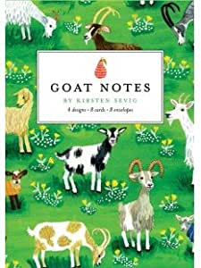 Goats Set of 4 Blank Greeting Cards