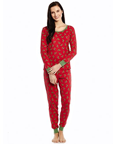 Women 2 Piece Pajama Reindeer X Large
