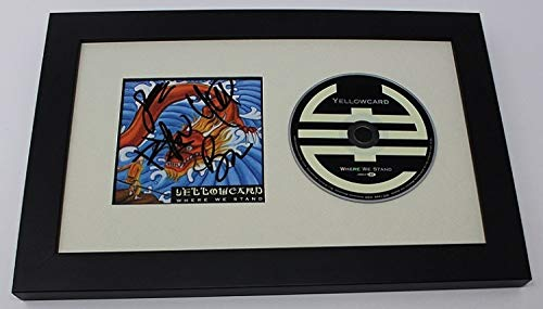 Yellowcard Where We Stand Group Band Signed Autographed Music Cd Insert Compact Disc Framed Display Loa ()
