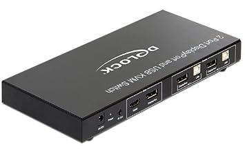 Delock 11367 2 Displayport KVM Switch USB und Audio  Amazon.de ... 05a4f41371e5e