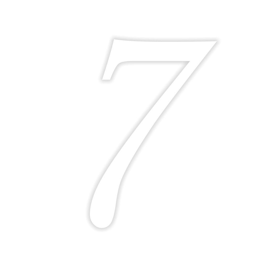 Timalo Aufkleber Hausnummer 7 Weiß 10 Cm Hoch Kleben