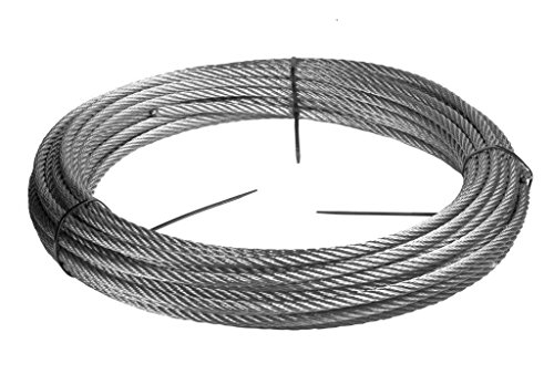 Stainless steel wire rope - 316 - 0.059 inch / 1.5 mm - 152,5 feet / 50 meter - Wire Rope by https://stainless-wire.us
