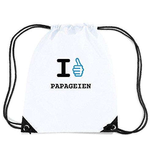 JOllify PAPAGEIEN Turnbeutel Tasche GYM6314 Design: I like - Ich mag