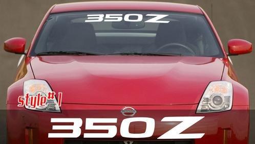 (Nissan 350Z Windshield Decals 3
