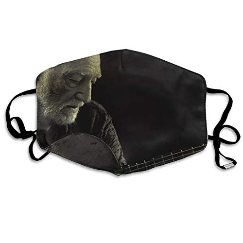 KIMBERLYBLAINE Willie Nelson Last Man Standing Mask Muffle Flu Face Mouth Mask Reusable Ski Masks