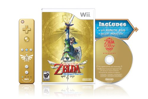 The Legend of Zelda: Skyward Sword Gold Remote Bundle by Nintendo