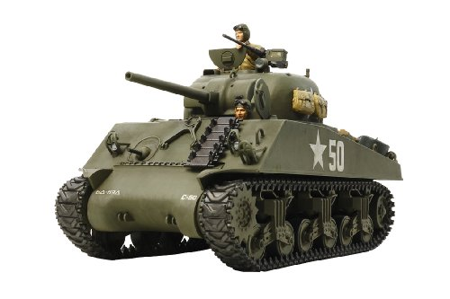 U.S. Medium Tank M4A3 Sherman (w/Single Motor) (Plastic model) by Tamiya
