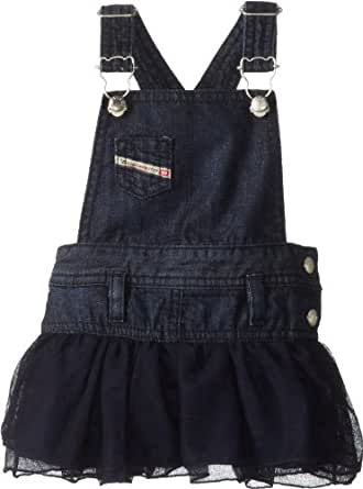 Diesel Baby-Girls Newborn Densib Dark Jumper Dress with Tulle Skirt, Indigo, 3 Months