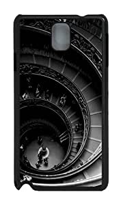 Samsung Note 3 Case,VUTTOO Cover With Photo: Spiral Stairs Of The Vatican Museums For Samsung Galaxy Note 3 / N9000 / Note3 - PC Black Hard Case