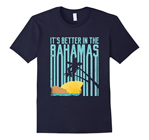Men's It's Better In The Bahamas Vintage Retro 70s 80s T-Shirt 2XL Navy (70s Or 80s Clothing)