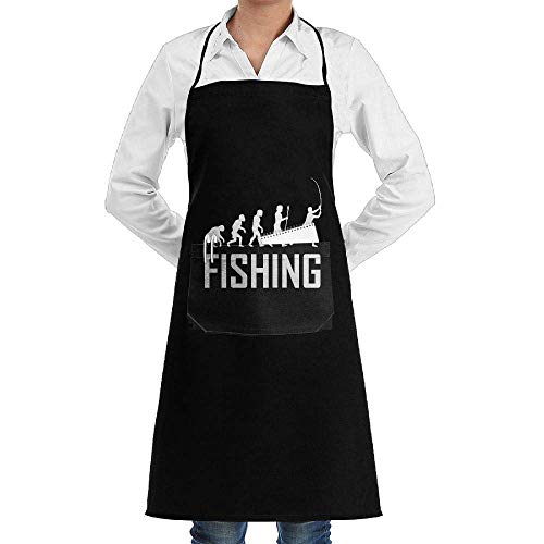 lihewind Women/Men Long Aprons Fishing Evolution Supermarket Overalls Sleeveless Anti-Fouling Overalls Portable Pocket Design