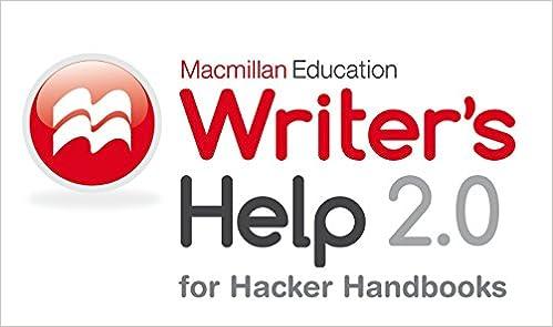 Writers Help 20 Hacker Version Twelve Month Access 2nd Edition