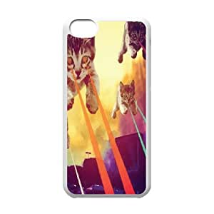 Iphone 5C 2D Personalized Phone Back Case with Space cat Image