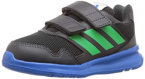 adidas Kids' Altarun Running Shoe, Carbon/Vivid Green/Bright Blue, 6K M US Toddler