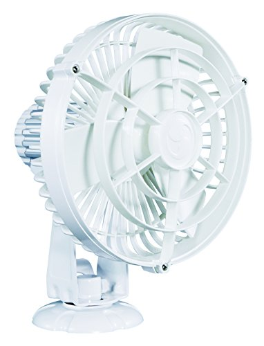 Caframo Kona 12V Weatherproof Variable Speed Fan, White, Small by Caframo Kona