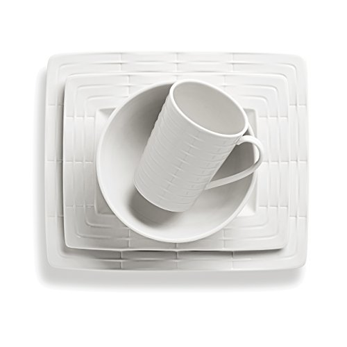 Lenox 4-Piece Entertain 365 Sculpture Rectangular Place Setting, ()
