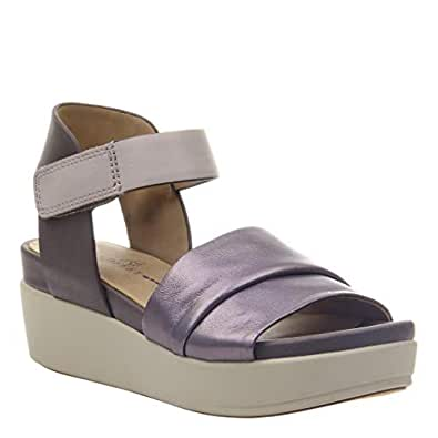 ea94dd80b5 Image Unavailable. Image not available for. Color: naked Feet Women's Koda Wedge  Sandals - Dark ...