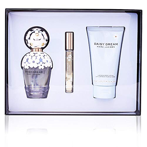 Daisy Dream by Marc Jacobs for Women 3 Piece Set Includes: 3.4 oz Eau de Toilette Spray + 5.1 oz Luminous Body Lotion + 0.33 oz Eau de Toilette Rollerball Pen