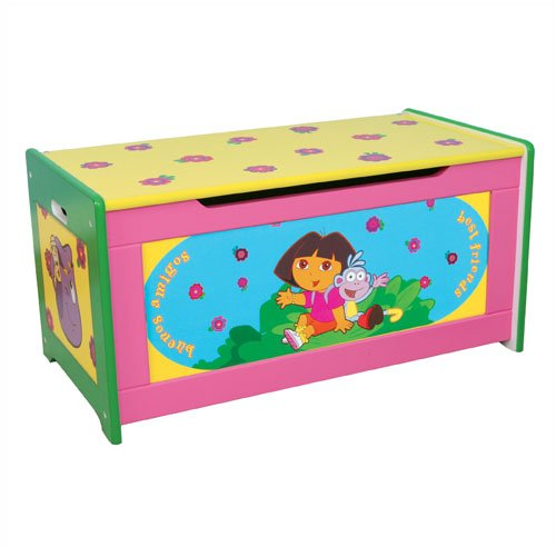 - Dora the Explorer Wooden Toy Box Organizer by Delta