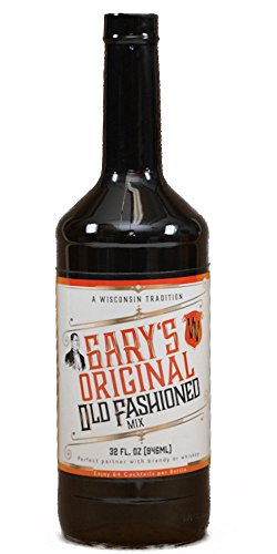Gary's Old Fashioned Mix (32 FLOZ) 64 Cocktails per Bottle, Premium Non-alcoholic Mixer, Wisconsin Tradition, Old Fashioned Drink Mix