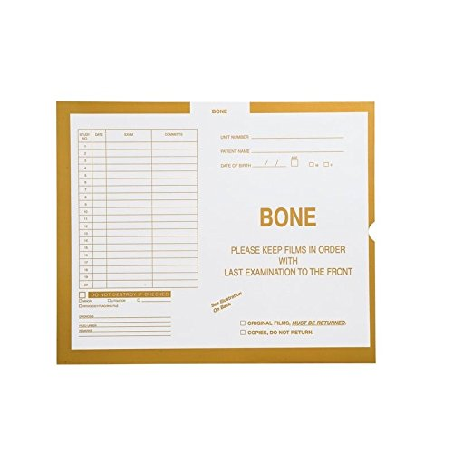 Bone, Yellow #109 - Category Insert Jackets, System I, Open End - 14-1/4'' x 17-1/2'' (Carton of 250)
