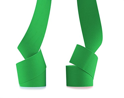 Green Kinesiology Tape Therapeutic Athletic Sports Taping Applications For Knee Shoulder Elbow Ankle Neck - Flex Waterproof Stapping Adhesion Skin and Sports Muscle with Kinetic Flexibility Women Men
