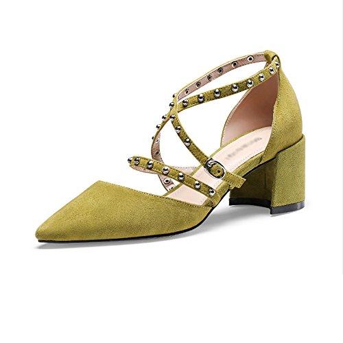 da alto incrociato Sandali primavera dimensioni GYHDDP punta con Colore cinturino donna estate tacco A rivetti moda alti 39 B a tacco Et0txqwr
